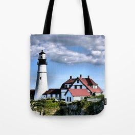 Maine Headlight Lighthouse Tote Bag