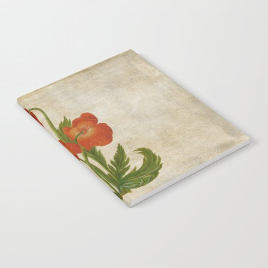 Vintage painting- Bunch of poppies Poppy Flower floral Notebook