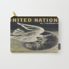 Vintage poster - United Nations Carry-All Pouch