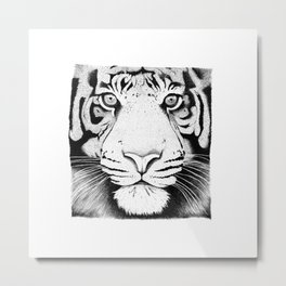 Tiger face Metal Print