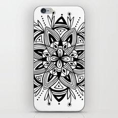 Mandala - Black iPhone Skin