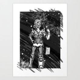 365 Space Wrestlers: Doom Warrior Art Print