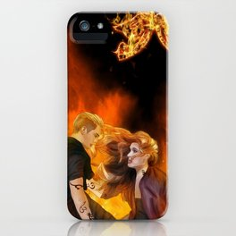 Clace heavenly fire iPhone Case
