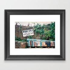 Book Sale Framed Art Print