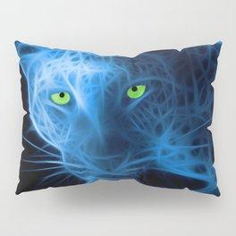 Blue Leopard Pillow Sham