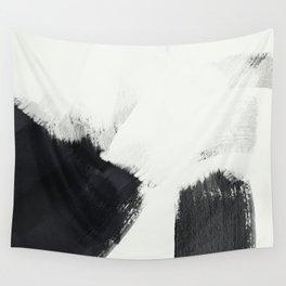 brush stroke black white painted II Wall Tapestry