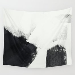 brush stroke black white painted II Wall Tapestry