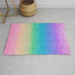 Rainbow Glitter Rug