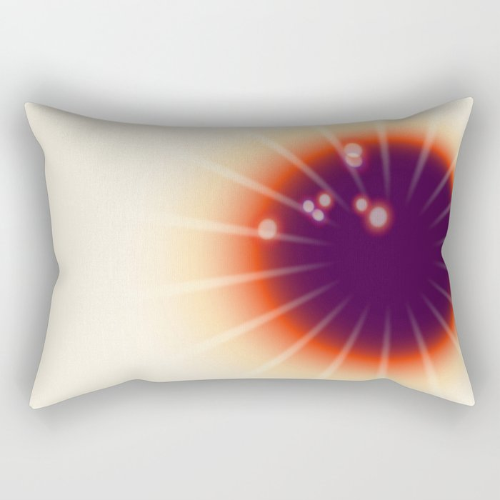 Tie and dye ultraviolet sun Rectangular Pillow
