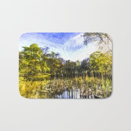 The Bulrush Pond Art Bath Mat