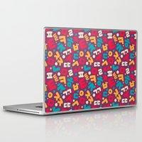 korean Laptop & iPad Skins featuring Korean alphabet pattern by Sudjino
