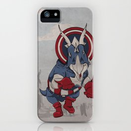 Captain Ameritops - Superhero Dinosaurs Series iPhone Case