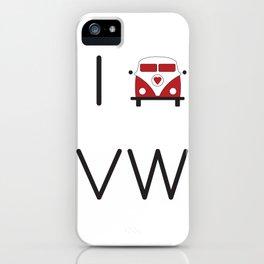 I heart Campervans iPhone Case