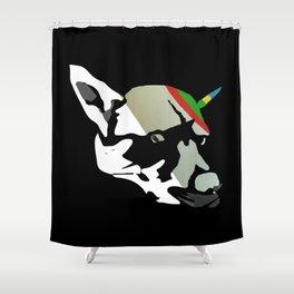 Fossil Dog Shower Curtain