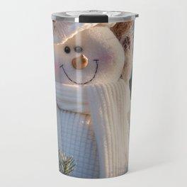 A Smiling Snowman Travel Mug
