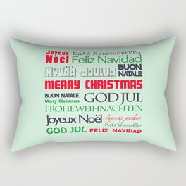 different languages III merry christmas Rectangular Pillow