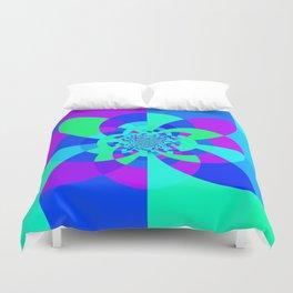 Orchid Aqua Turquoise Kaleidoscope Duvet Cover