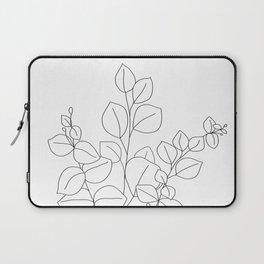Minimalistic Eucalyptus  Line Art Laptop Sleeve