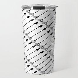 Tribal Art Arrows, Black and White Pattern Travel Mug