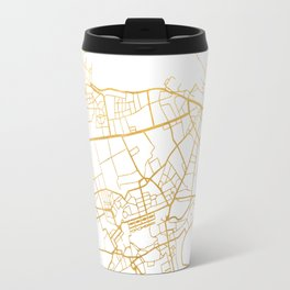 EDINBURGH SCOTLAND CITY STREET MAP ART Travel Mug