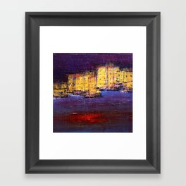 the town by the sea Framed Art Print