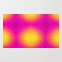 70s Area & Throw Rugs featuring Flashy 70s,pink by MehrFarbeimLeben