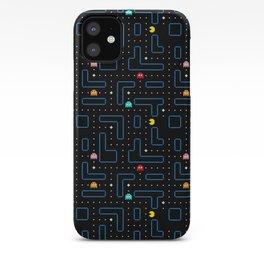 Pac-Man Retro Arcade Video Game Pattern Design iPhone Case