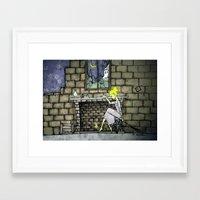 cinderella Framed Art Prints featuring cinderella by Maria Sciarnamei