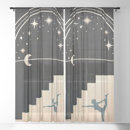 Star Light Beyond the Arch Sheer Curtain
