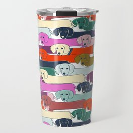 colored doggie pattern Travel Mug