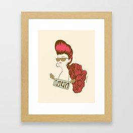 fly girl Framed Art Print