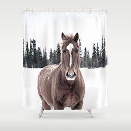 Horse Print Shower Curtain