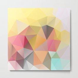 Polygon print bright colors Metal Print