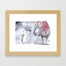 Earl and the elephant  Framed Art Print