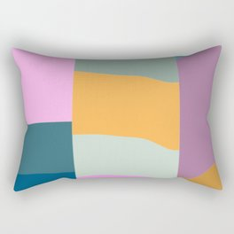 Abstract Geometric Shapes in Fun, Bright and Bold Colors Rectangular Pillow
