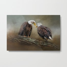 Quiet Conversation Metal Print