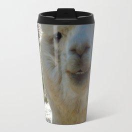 Smiling Llama Travel Mug