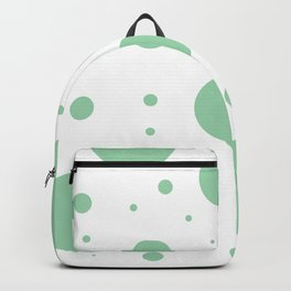 Mint Green Bubbles Backpack