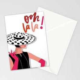 Paris Oh lala minimal illustration Stationery Cards