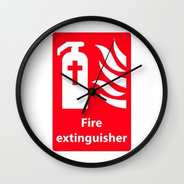 Fire Extinguisher For Hell - Christian Sign Illustration Wall Clock