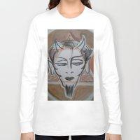 satan Long Sleeve T-shirts featuring HA SATAN by Kathead Tarot/David Rivera