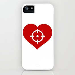 Heart as target iPhone Case