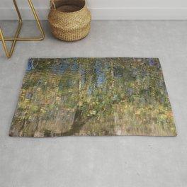 Monet-Like Autumn Reflection Rug
