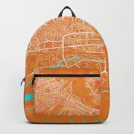Ulaanbaatar, Mongolia, Gold, Blue, City, Map Backpack