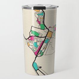 Colorful City Maps: Alice Springs, Australia Travel Mug