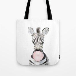 Bubble Gum Zebra Tote Bag