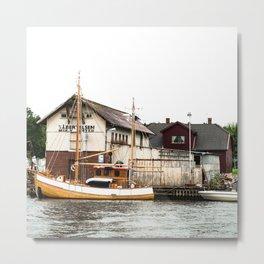 fisherman house in oslo Metal Print