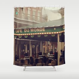 Foggy Cafe Du Monde Shower Curtain