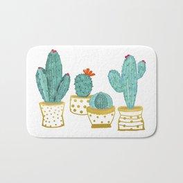 Cactus Garden || #society6artprint #decor Bath Mat