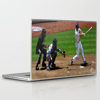 baseball Laptop & iPad Skins featuring Baseball by Mylittleradical